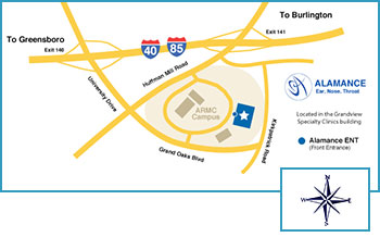 Directions to Alamance Audiology - Burlington, NC